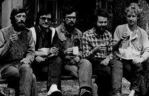 Marek Borowiec, Teodor Baranowski, Jacek WIśniewski, Jarosław Dalecki i Adam Bogoryja Zakrzewski 1989