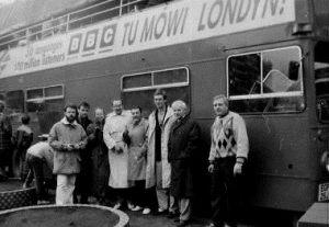 BBC w Szczecinie Jan Czyżewski, Zbigniew Kosiorowski, Zbigniew Skarul, Kazimierz Tomczyk, Jerzy Szafulski, Anna Kafel Filip, NN, Jarosław Dalecki