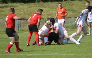 4. fragment meczu rugby: armia kanadyjska przeciw drużyna z Łodzi