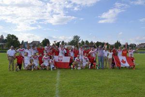 6. drużyny rugby z Kanady i z Łodzi po meczu
