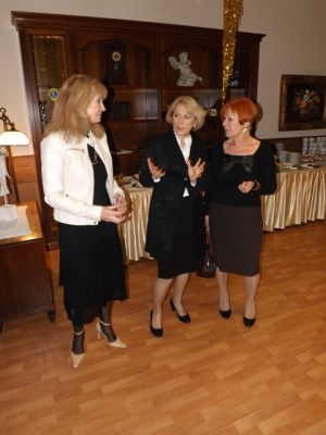 Spotkanie noworoczne dziennikarzy 05.02.2016, na zdjęciu: Anna Kolmer, Helena Kwiatkowska, Elżbieta Karasiewicz