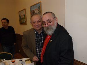 Spotkanie noworoczne dziennikarzy 05.02.2016, na zdjęciu: Krzysztof Żurawski, Janusz Sudoł, Krzysztof Flasiński