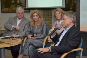 od lewej: prof. B. Czerniak, A. Kolmer, H. Kwiatkowska i L. Szopa