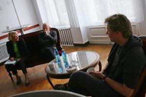 od lewej: Helena Kwiatkowska, Włodzimierz Piątek - fotograf, Tomasz Lazar