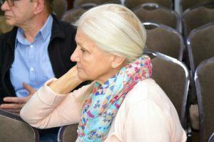 Zasłuchani uczestnicy wykładu dr Flasińskiego, m.in Sonia Żarkowska