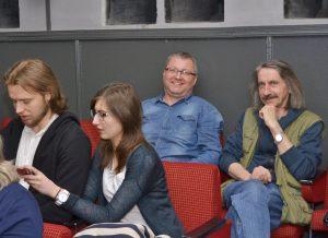 na widowni szczeciński fotografik Ryszard Pakieser (po prawej stronie)