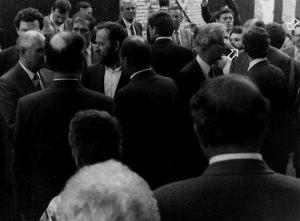Michaił Gorbaczow u Franciszka Bakana - relacja dla Polskiego Radia Jarosław Dalecki i Zbigniew Malarski