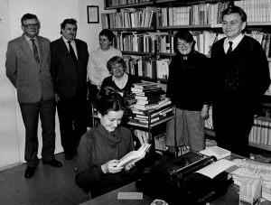 Polskie Radio Szczecin - w bibliotece radiowej ok. 1985