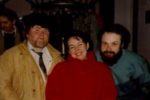 od lewej: Zbigniew Plesner, Kinga Brandys, Jarosław Dalecki - Ystad 1991