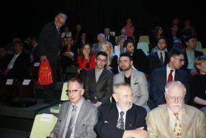 publiczność w studio TVP Szczecin, na pierwszym planie, od lewej: Piotr Dziemiańczuk, Andrzej Gedymin, Stanisław Modelski
